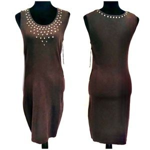 NWT DOLCE VITA TRUE KHAKI SWEATER BODY CON DRESS